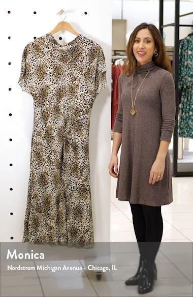 Drape Neck Midi Dress, sales video thumbnail