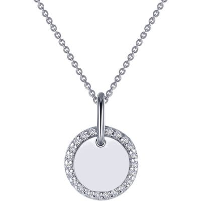 Lafonn Classic Simulated Diamond Round Disc Pendant Necklace