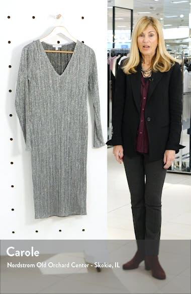 Metallic Long Sleeve Sweater Dress, sales video thumbnail