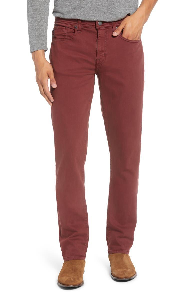 FIDELITY DENIM Jimmy Slim Straight Leg Pants, Main, color, CARMINE