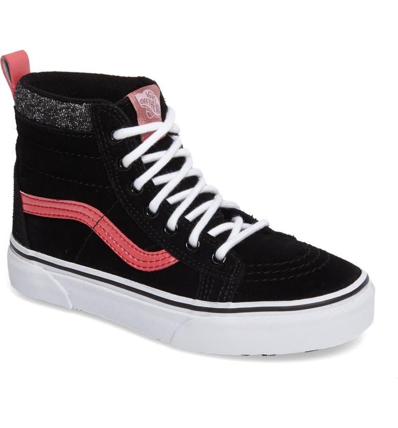 VANS SK8-Hi Sneaker, Main, color, 001