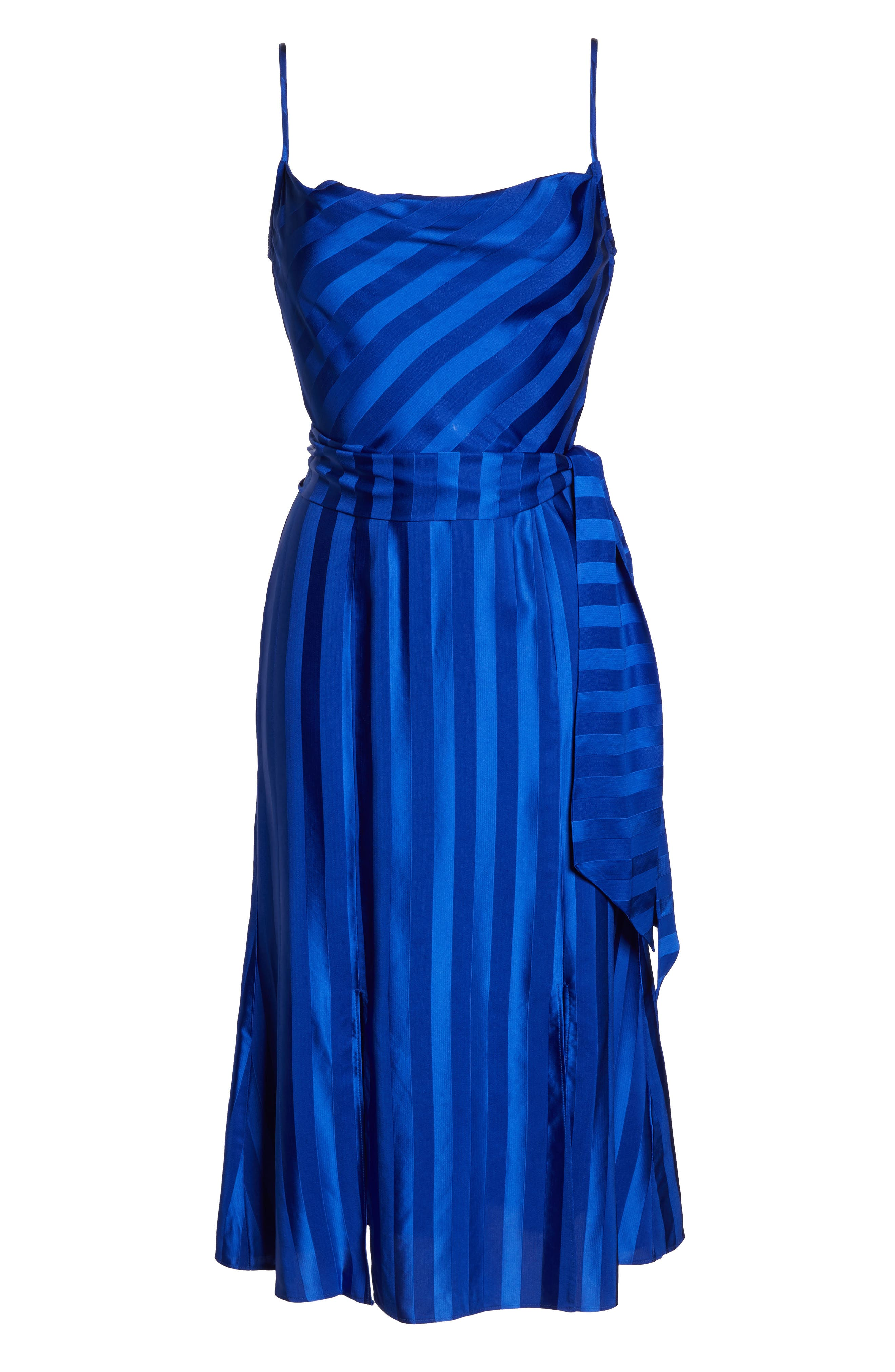 ,                             Abound Shadow Stripe Tea Length Dress,                             Alternate thumbnail 7, color,                             431