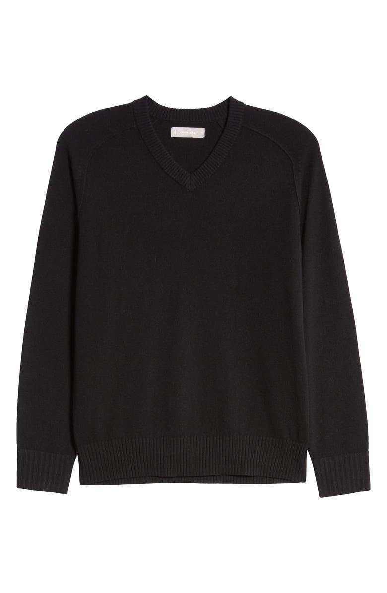 EVERLANE The ReCashmere V-Neck Sweater, Main, color, BLACK
