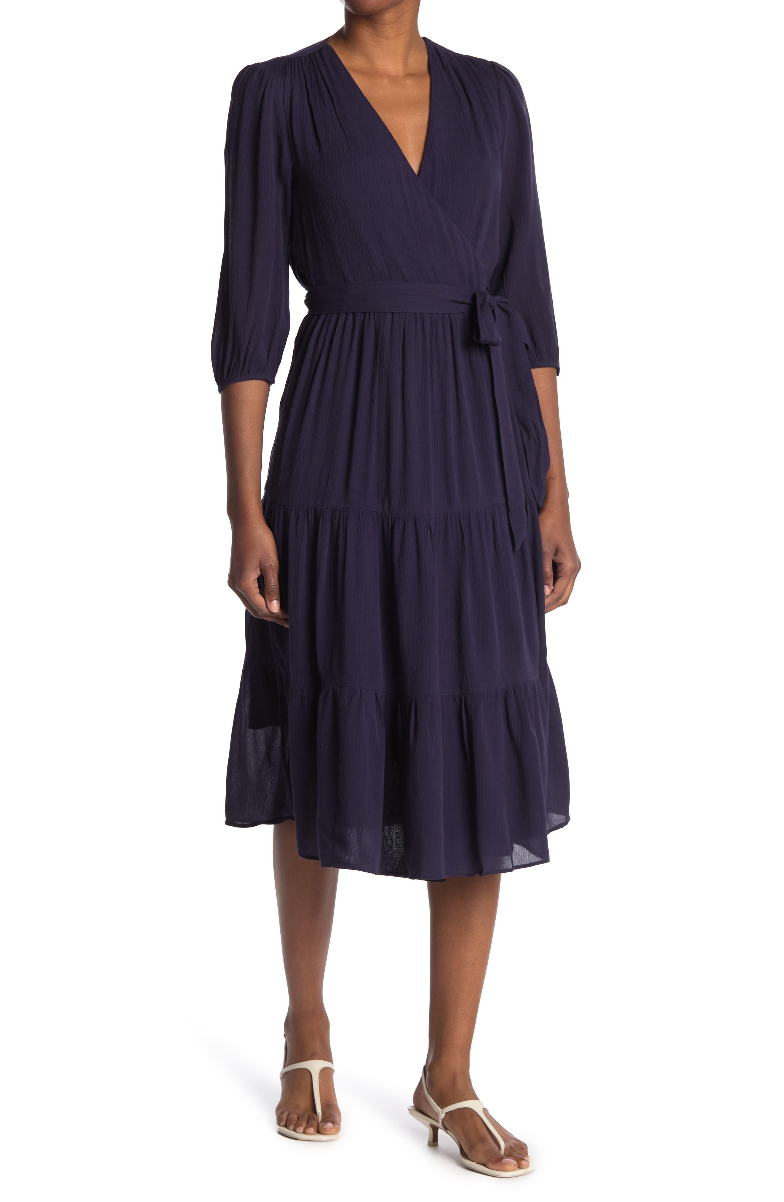 Image of BODEN Aurora Midi Wrap Dress