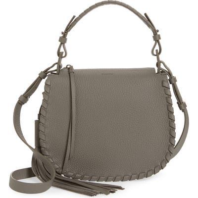 Allsaints Mori Leather Crossbody Bag - Grey