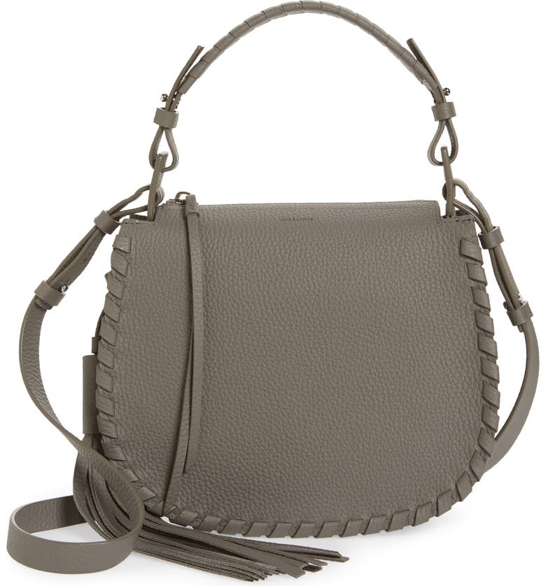 ALLSAINTS Mori Leather Crossbody Bag, Main, color, 020