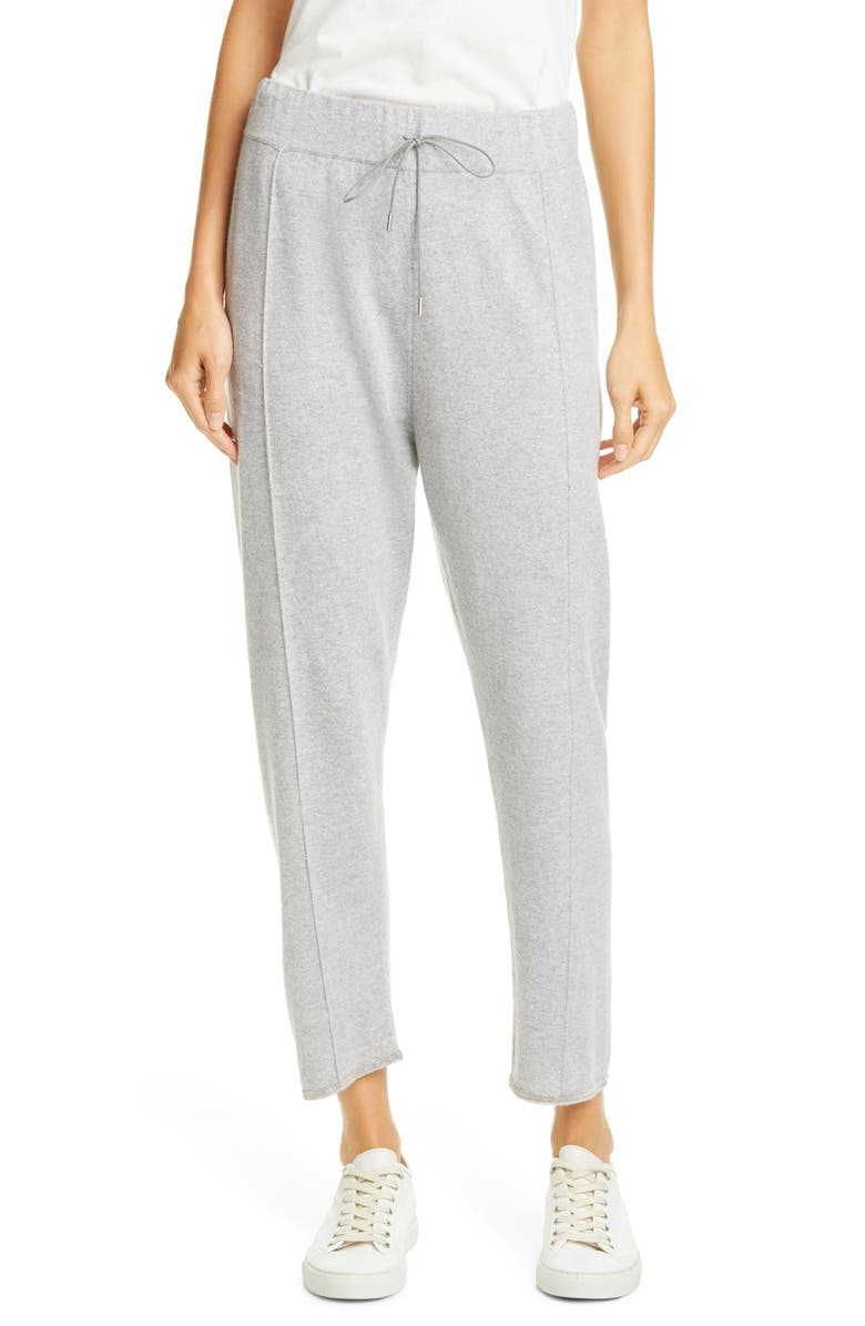 FABIANA FILIPPI Bead Trim Cashmere Joggers, Main, color, GREY
