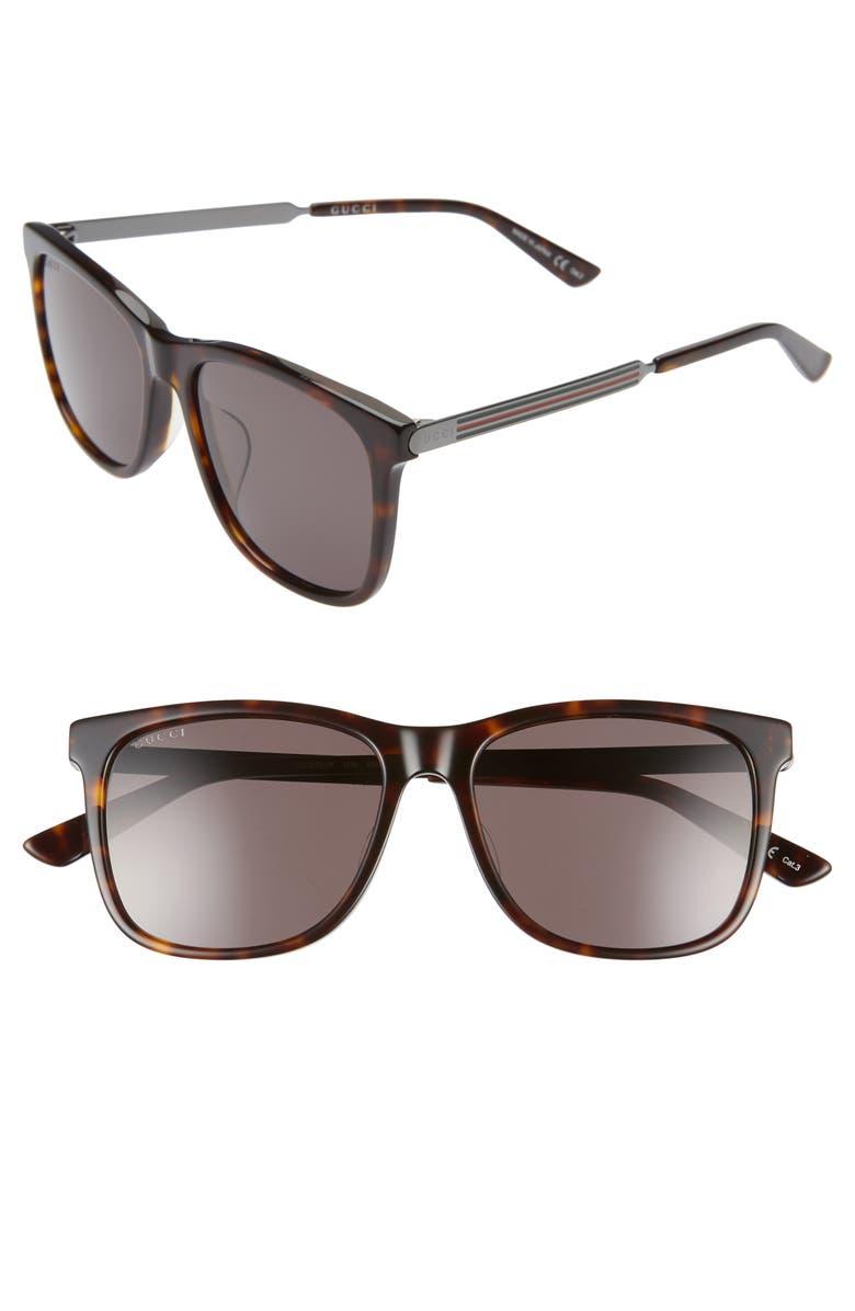 GUCCI 56mm Sunglasses, Main, color, 213
