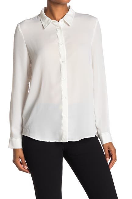 Image of Laundry By Shelli Segal Solid Seed Stitch Tunic Blouse