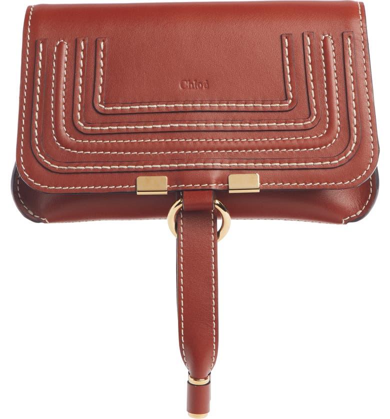 CHLOÉ Marcie Convertible Belt Bag, Main, color, BROWN/ BROWN