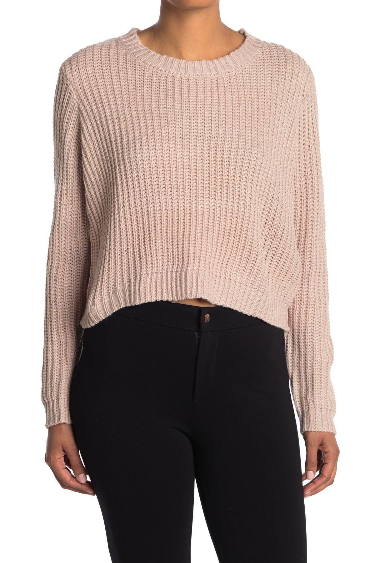 Image of Cotton Emporium Crew Neck Knit Sweater