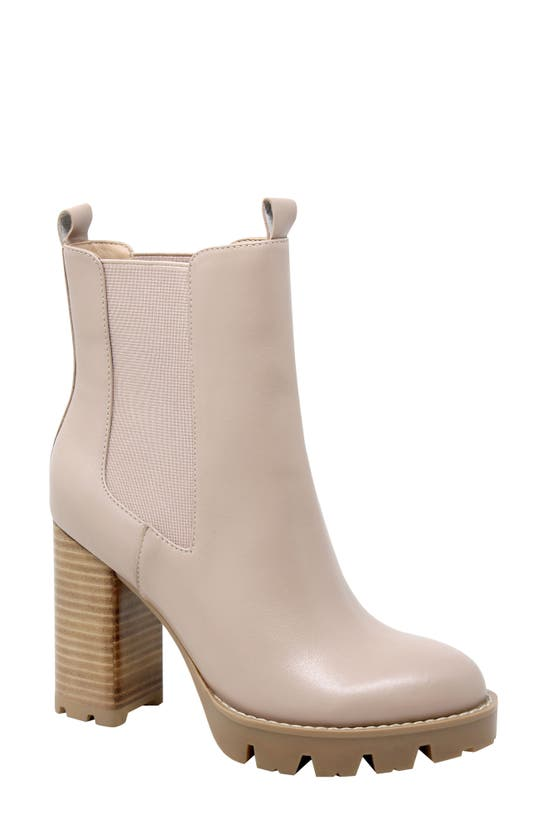 Charles David Women's Gambit Leather Pull On Platform Booties In Nude Leather
