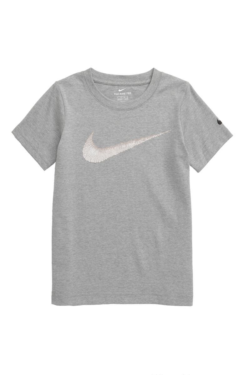 NIKE Swoosh Graphic T-Shirt, Main, color, DARK GREY HEATHER