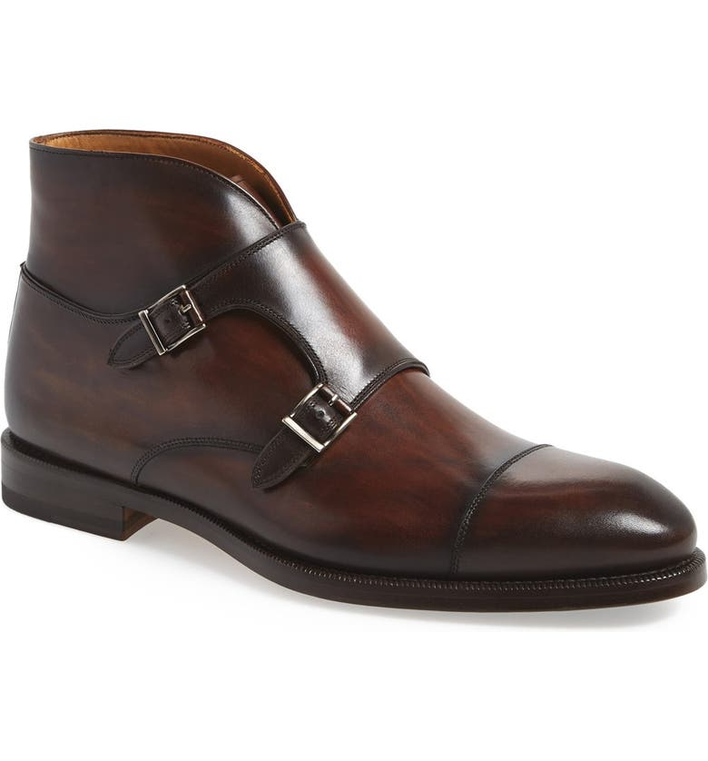 MAGNANNI 'Vadal' Double Monk Strap Boot, Main, color, 210