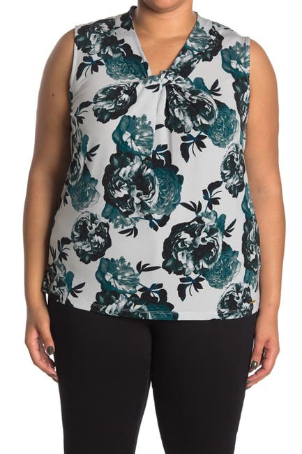 Image of Calvin Klein Twisted V-Neck Printed Tank