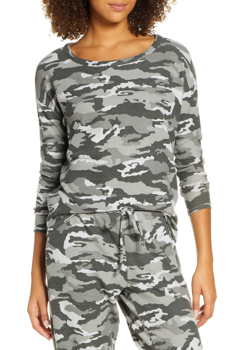 CHASER Camo Cozy Pullover, Main, color, 300