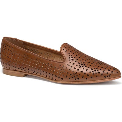 Trask Farrah Perforated Loafer- Brown