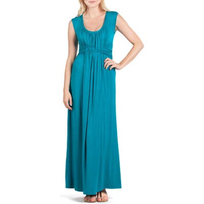 Savi Mom Athens Maternity/nursing Maxi Dress, Green