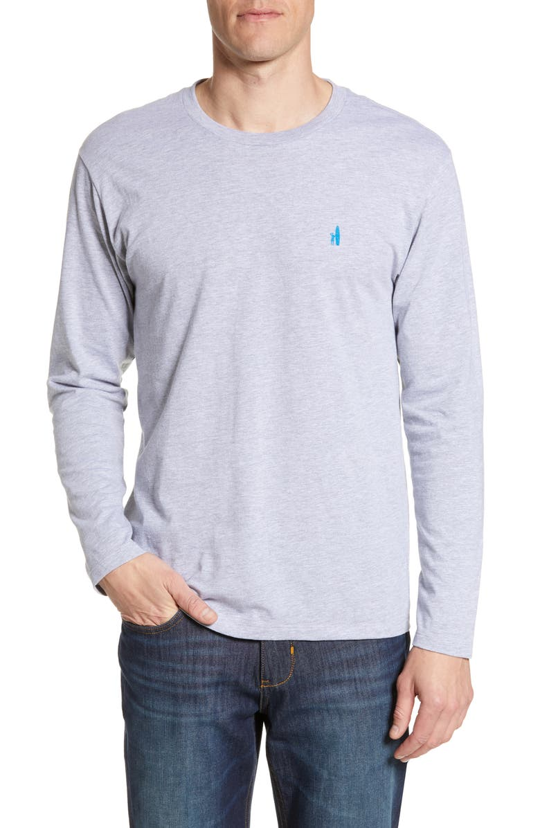 JOHNNIE-O Breeze Classic Fit Long Sleeve T-Shirt, Main, color, LIGHT GREY