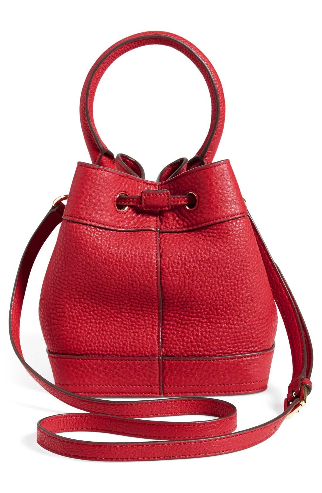 ,                             'Robinson' Pebbled Mini Bucket Bag,                             Alternate thumbnail 8, color,                             600
