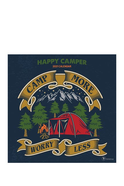 Image of TF Publishing 2021 Happy Camper Wall Calendar