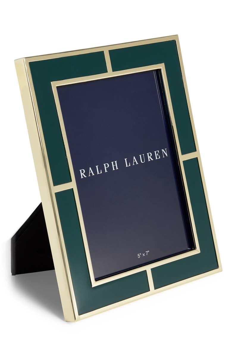 RALPH LAUREN Classon Frame, Main, color, GREEN/ GOLD