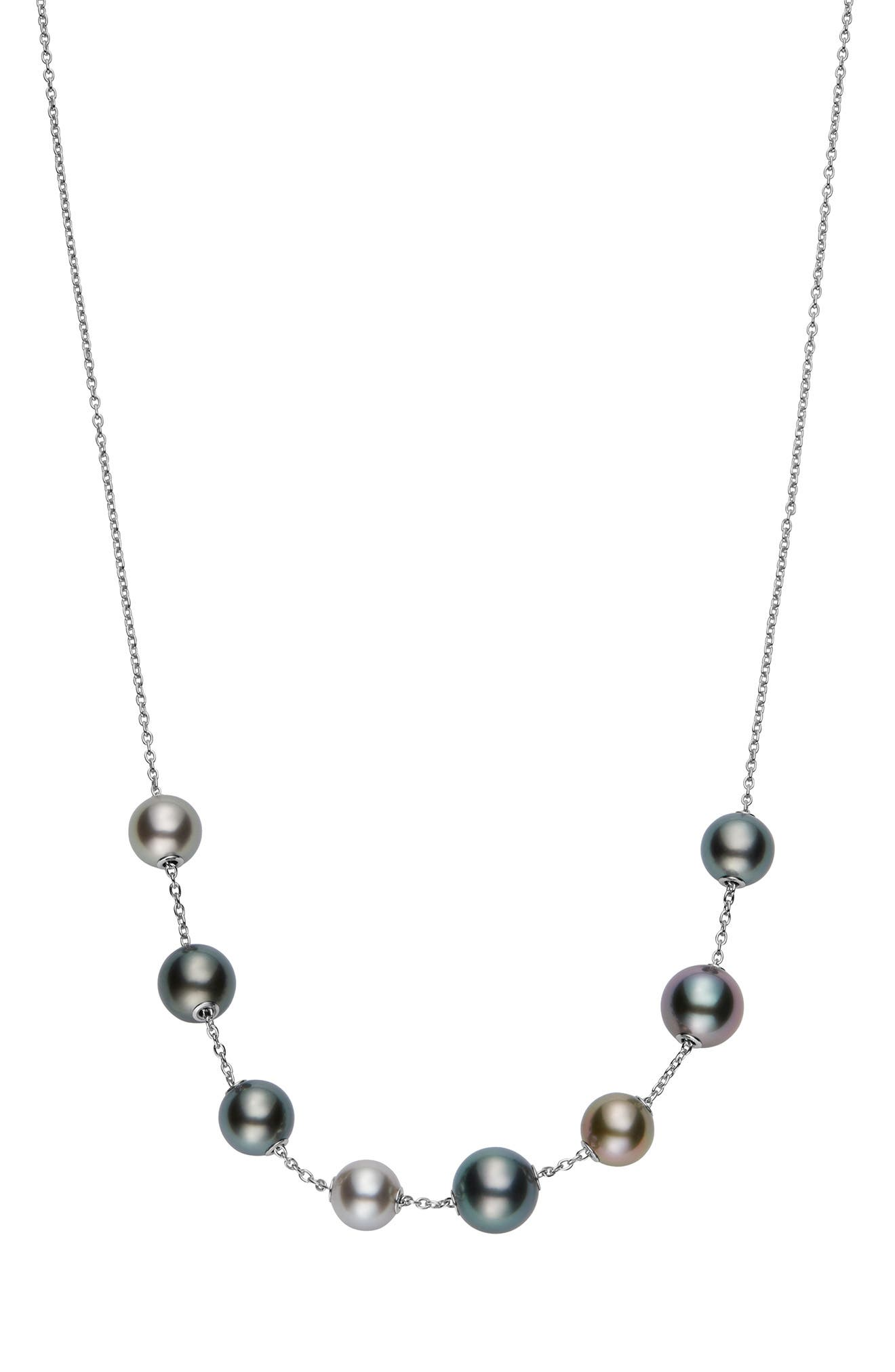 Pearls In Motion Black South Sea Cultured Pearl Necklace