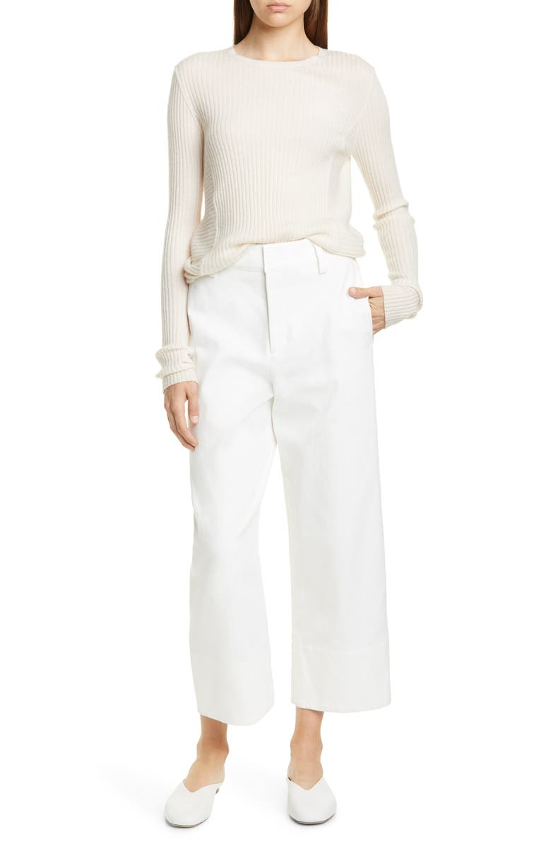Directional Rib Cashmere Sweater by Vince