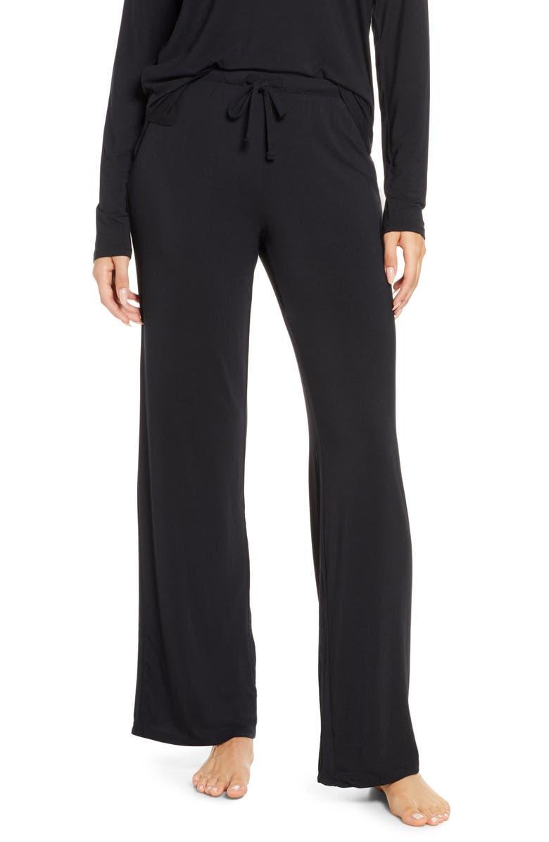 NORDSTROM Moonlight Pajama Pants, Main, color, BLACK