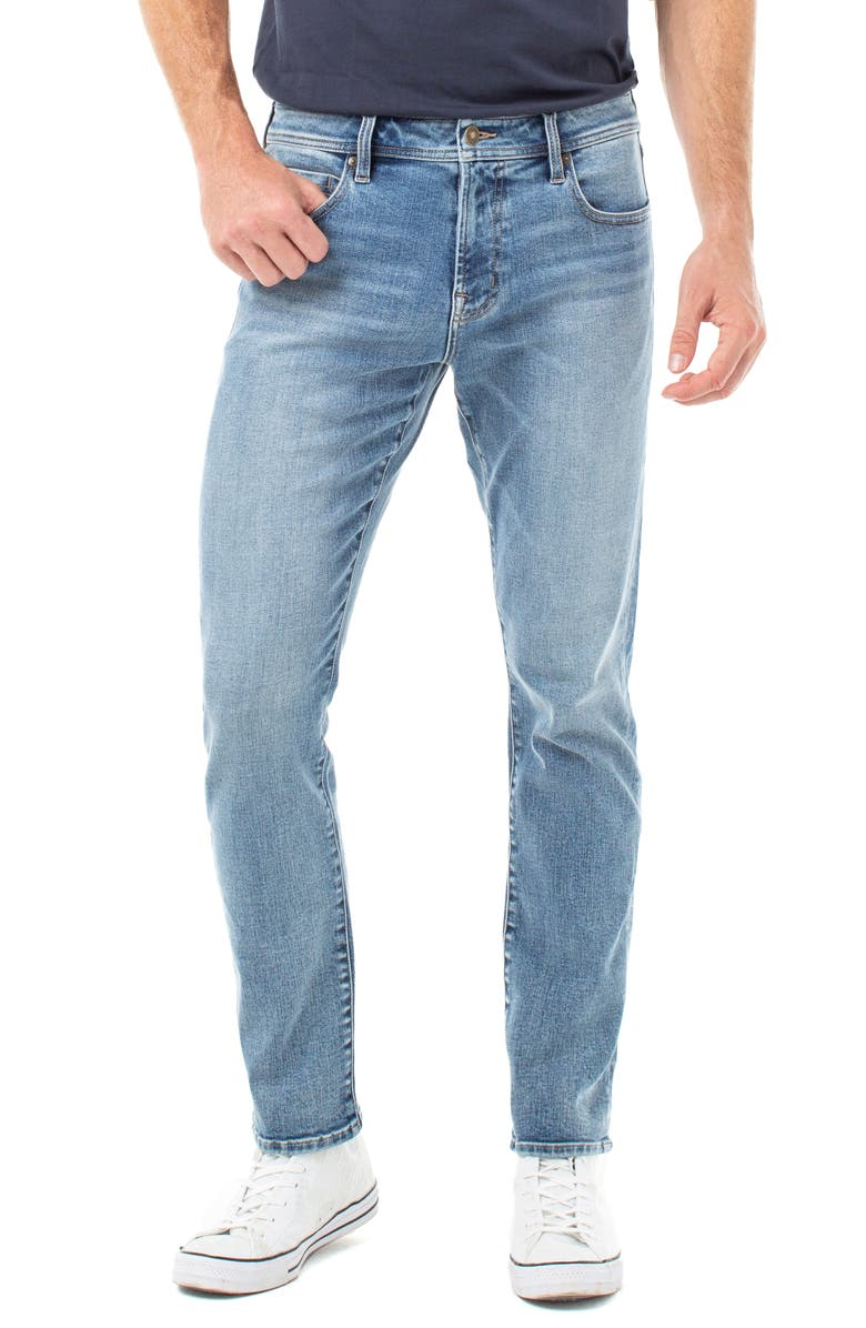 LIVERPOOL Kingston Modern Straight Leg Jeans, Main, color, MICHIGAN