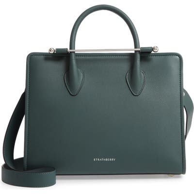 Strathberry Midi Calfskin Leather Convertible Tote - Green