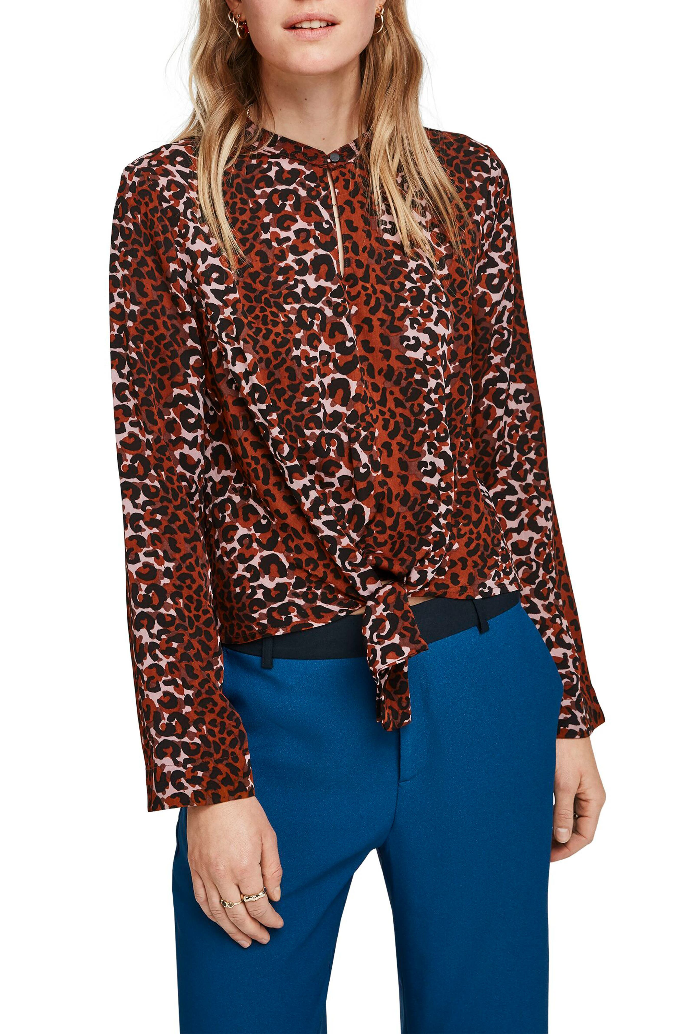 Image of Scotch & Soda Tie Front Blouse