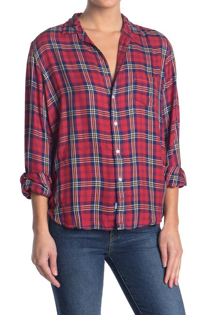 Image of FRANK & EILEEN Eileen Plaid Relaxed Fit Shirt