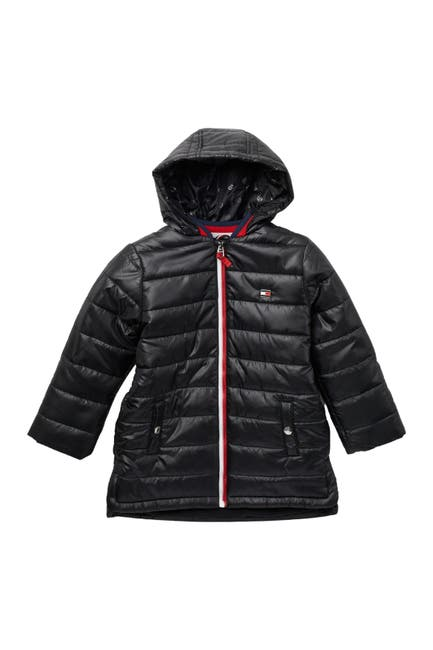 Image of Tommy Hilfiger Sporty Vertical Flag Puffer