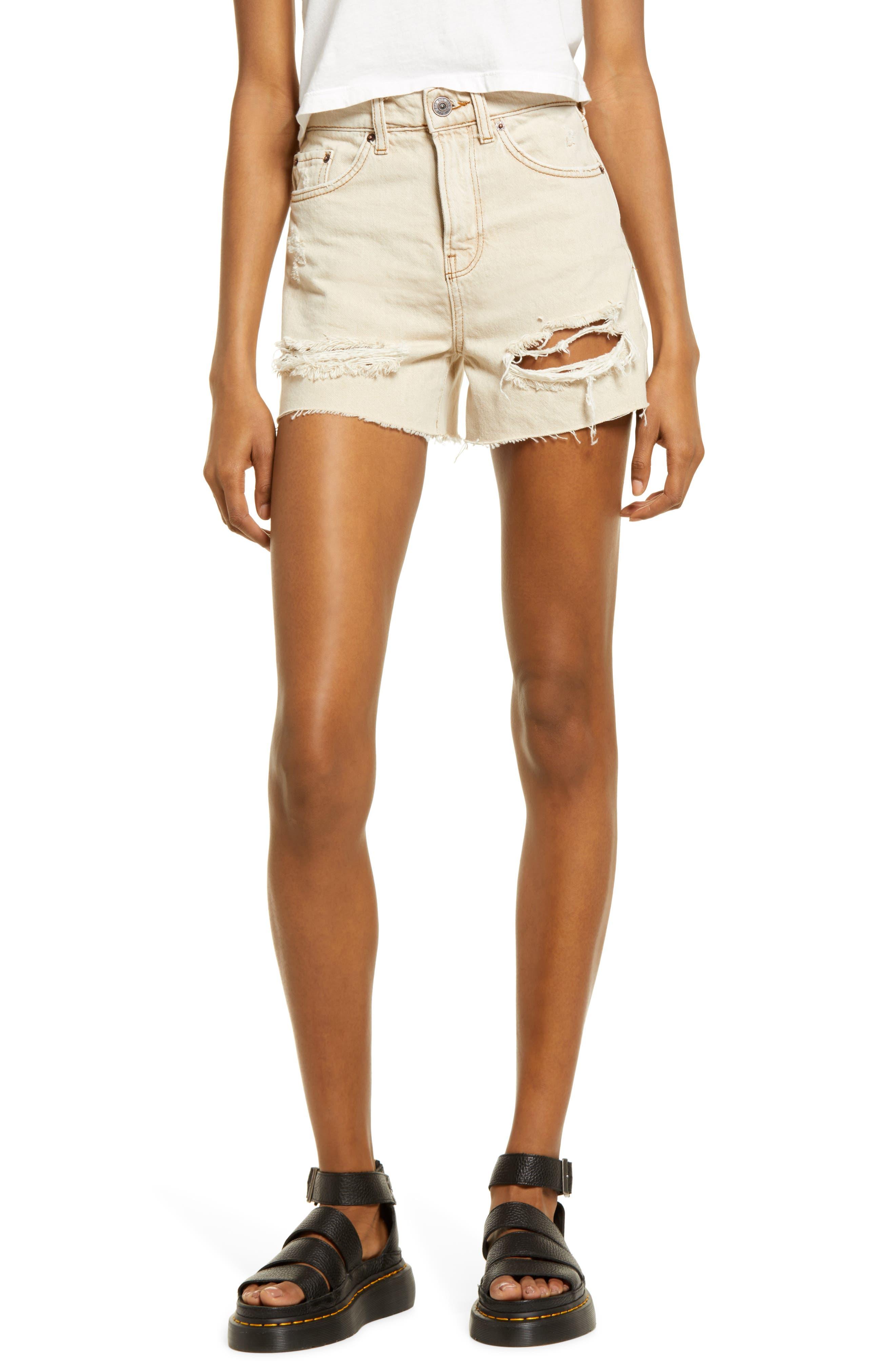 Pax Ripped High Waist Denim Shorts