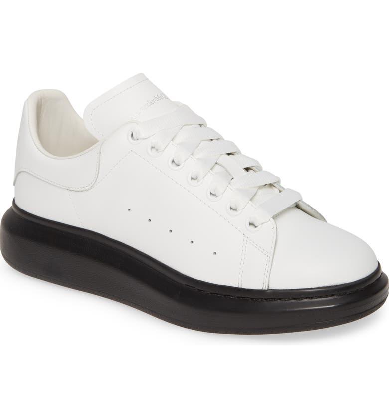 ALEXANDER MCQUEEN Oversize Sneaker, Main, color, WHITE/ BLACK