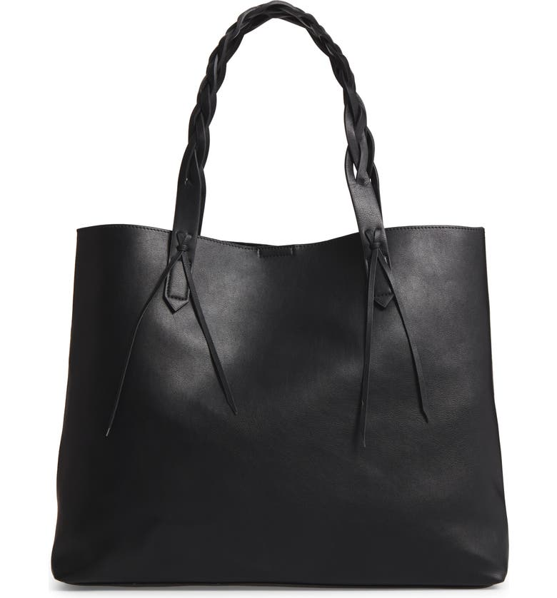 SOLE SOCIETY Amal Faux Leather Tote, Main, color, 001