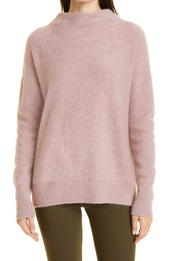 Vince Boiled Cashmere Funnel Neck Pullover In 691psh-pink Shell