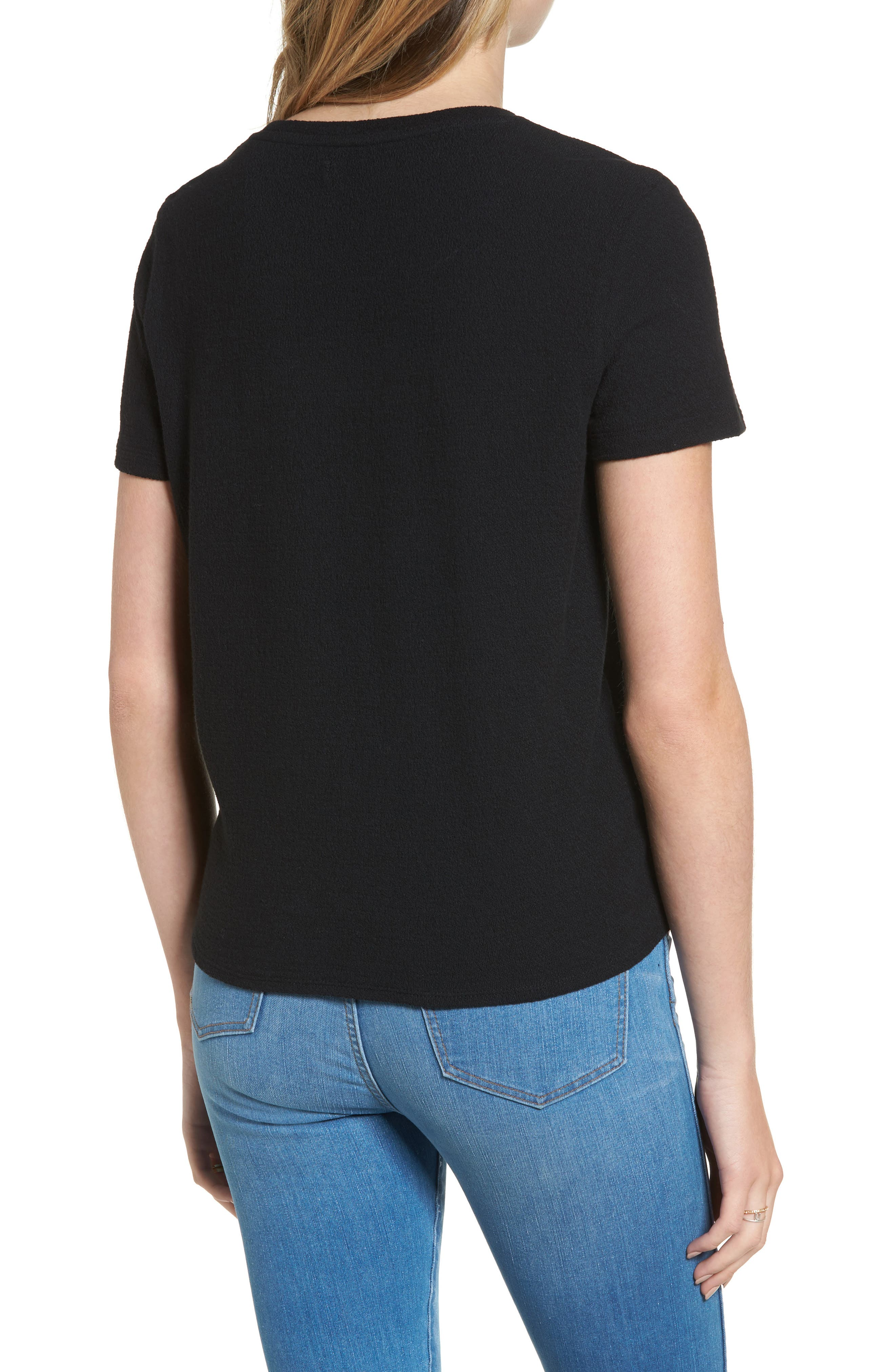 ,                             Modern Tie Front Tee,                             Alternate thumbnail 17, color,                             001