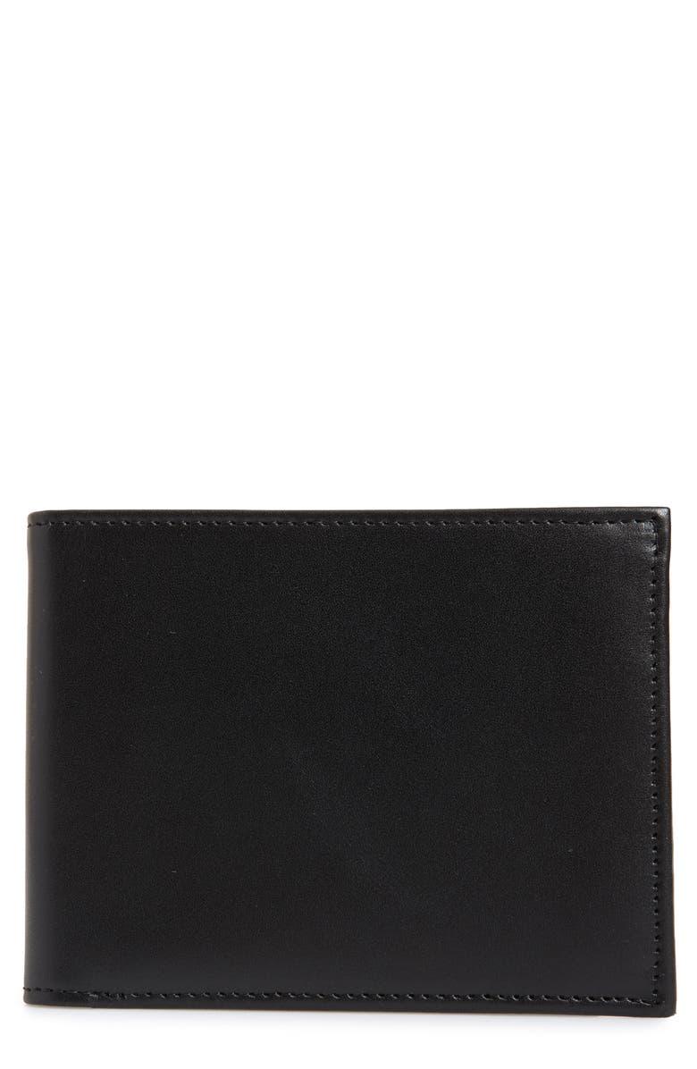 NORDSTROM MEN'S SHOP Chelsea Leather Wallet, Main, color, 001