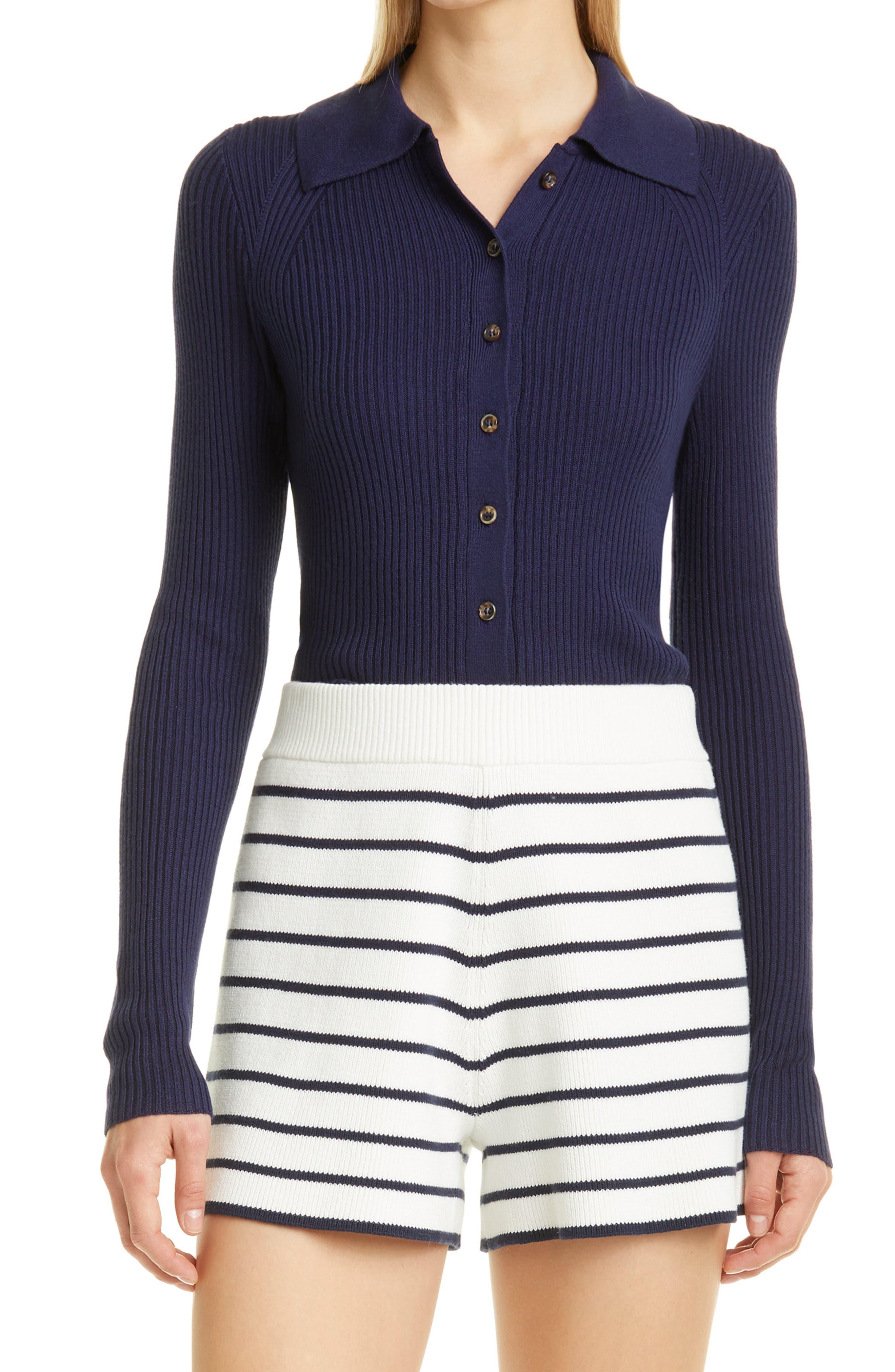 Silk & Cashmere Button-Up Sweater