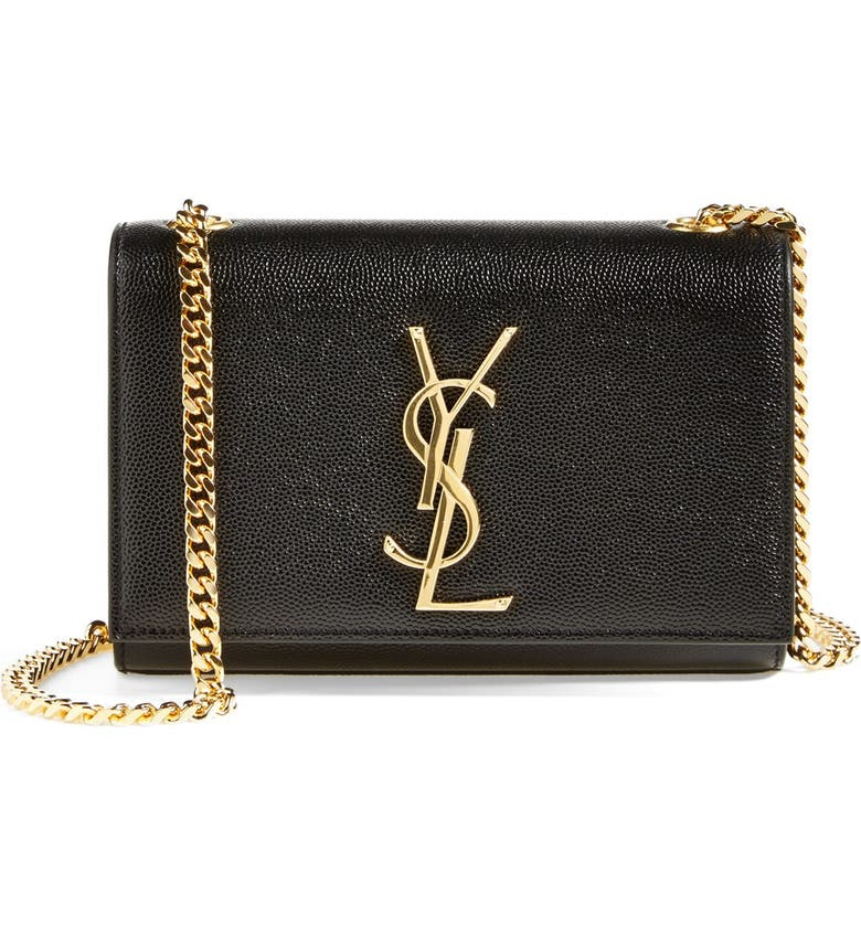 SAINT LAURENT Small Kate Chain Crossbody Bag, Main, color, NOIR/ GOLD HDWR