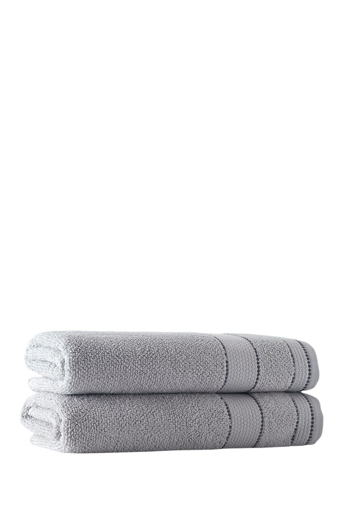 Enchante Home Monroe Turkish Cotton Bath Sheet Silver Set Of 2 Nordstrom Rack