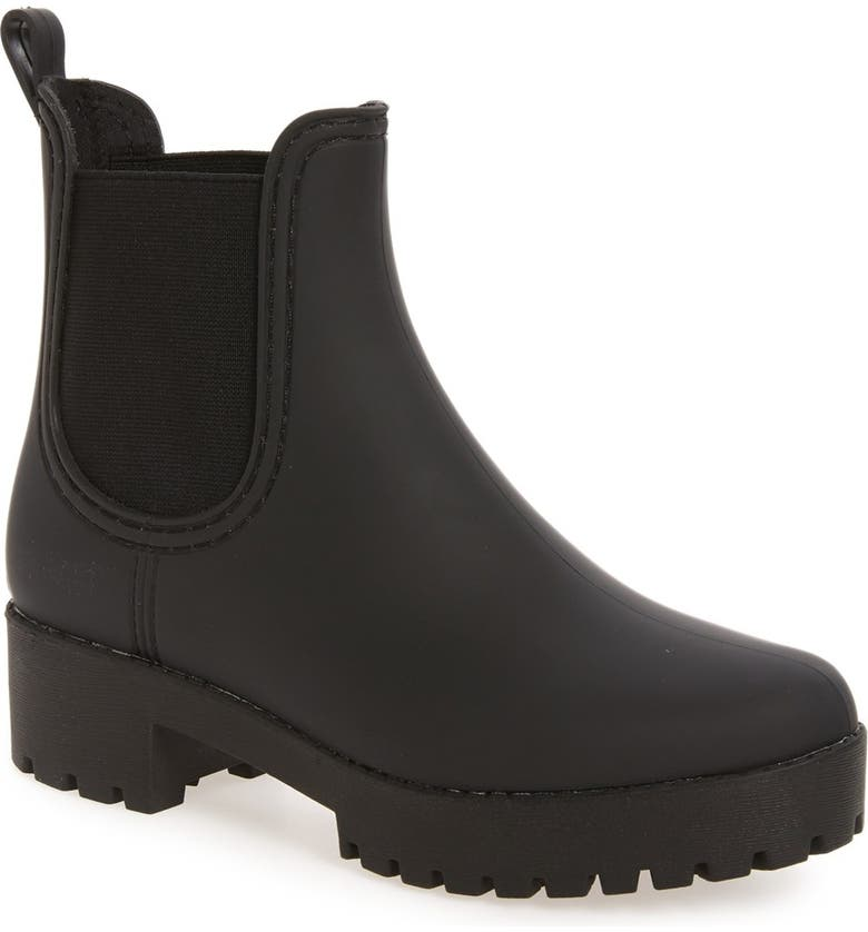 JEFFREY CAMPBELL Cloudy Waterproof Chelsea Rain Boot, Main, color, BLACK MATTE BLACK