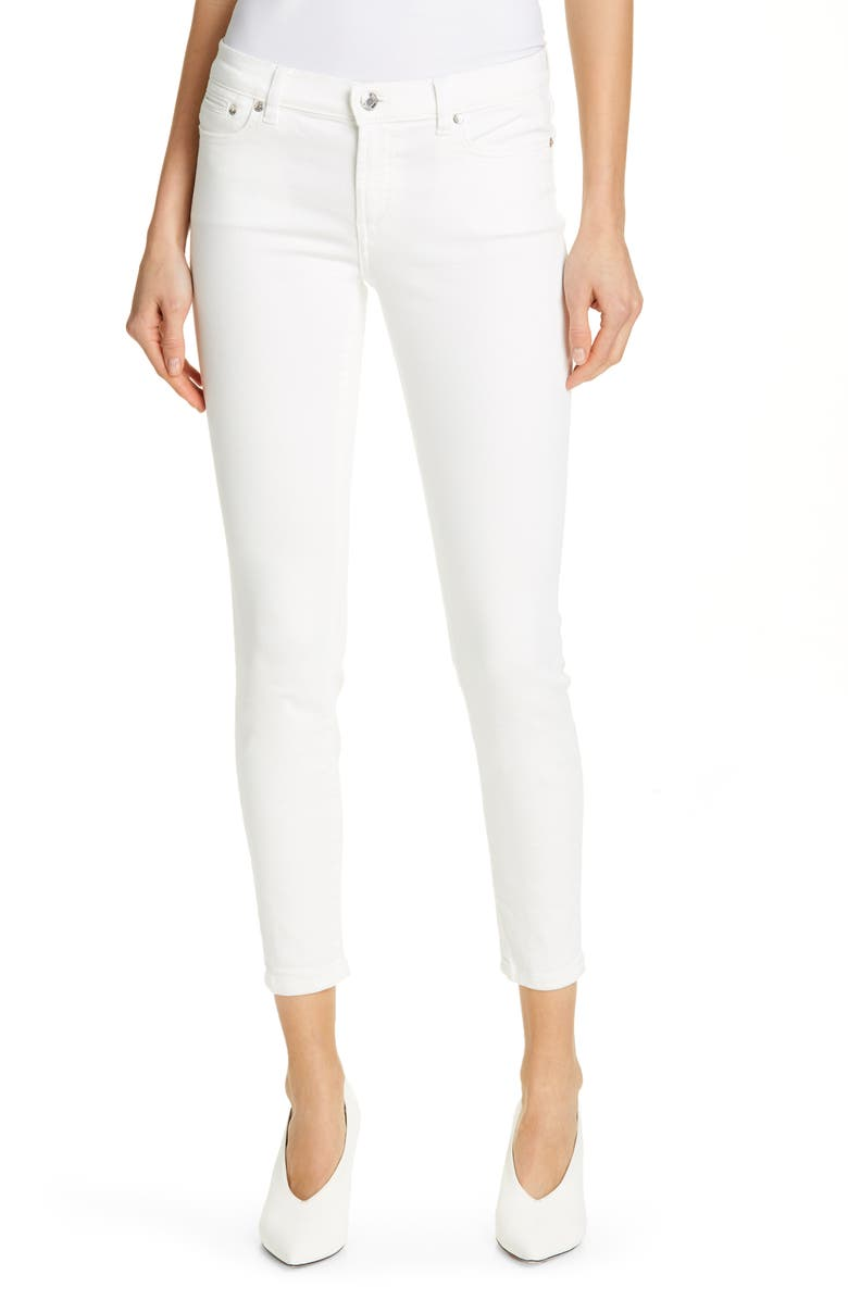 HUGO Gilljana Crop Skinny Jeans, Main, color, 100