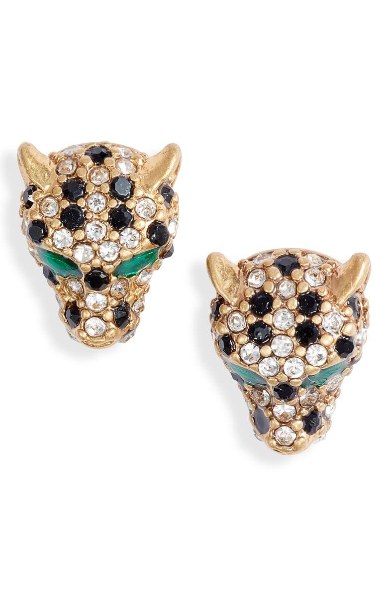 STELLA & DOT Roar Stud Earrings, Main, color, GOLD/ MULTI