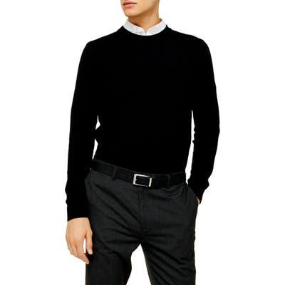 Topman Essential Classic Fit Crewneck Sweater, Black