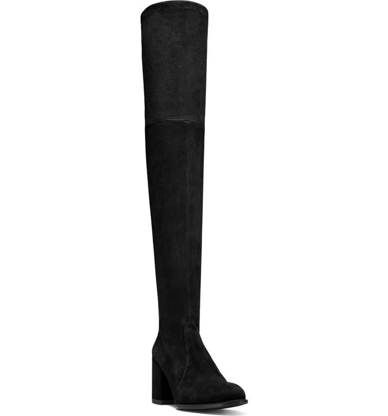 STUART WEITZMAN Tieland Over the Knee Boot, Main, color, BLACK/BLACK