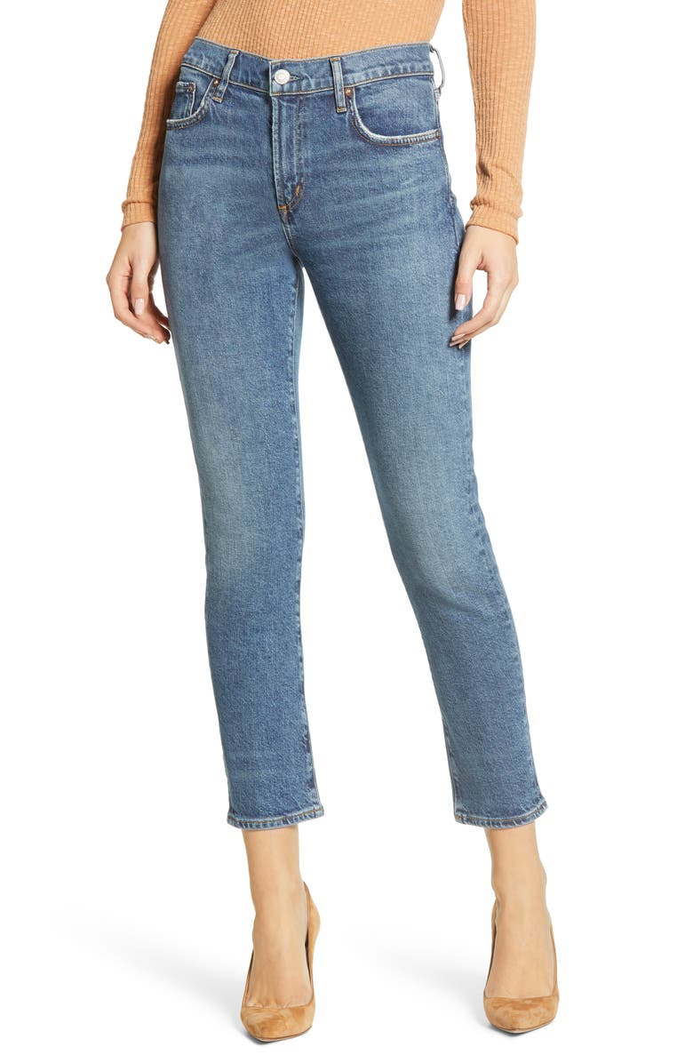 AGOLDE Toni Straight Leg Jeans, Main, color, OBSCURE