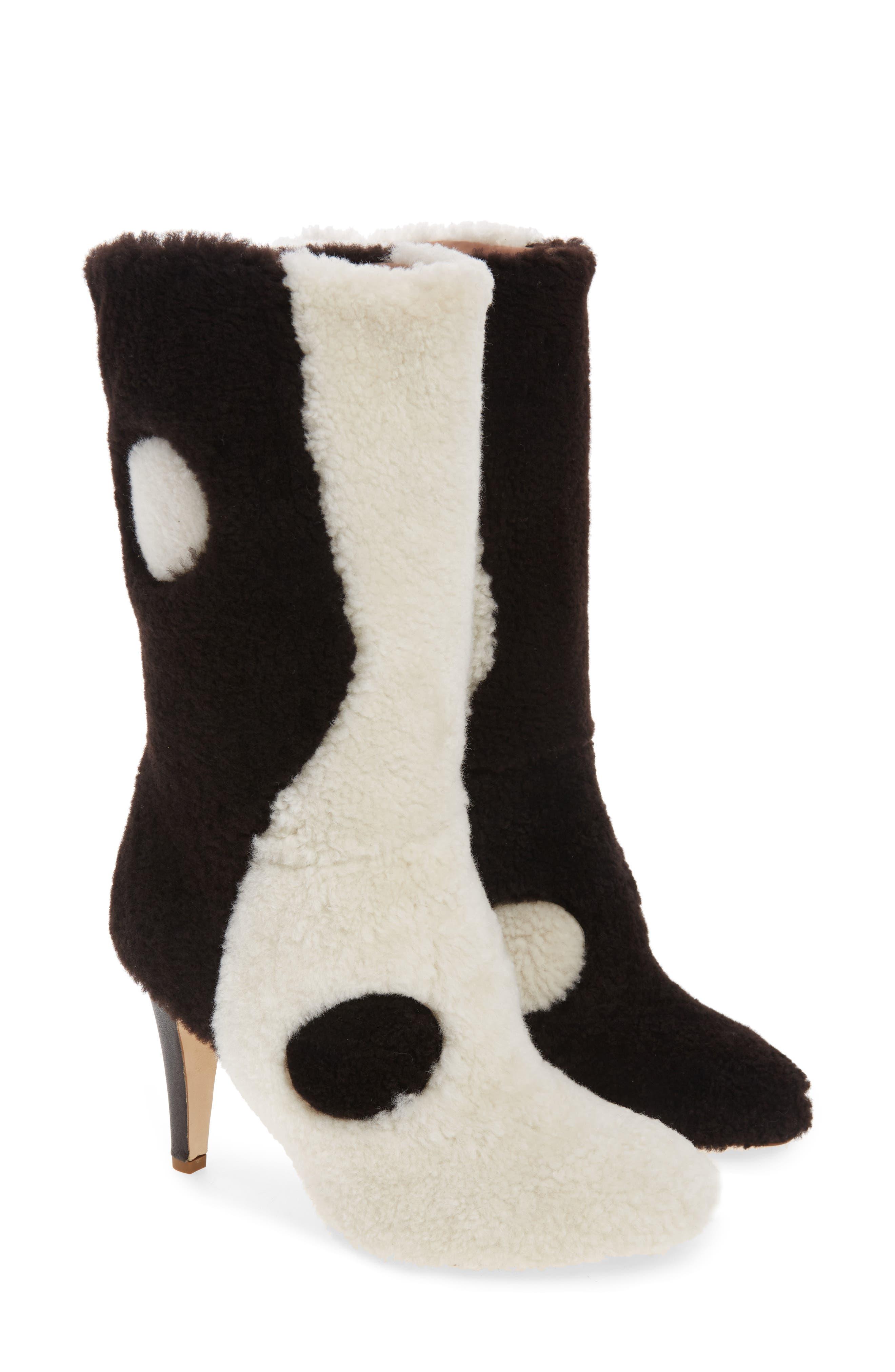 Yin Yang Genuine Shearling Boot